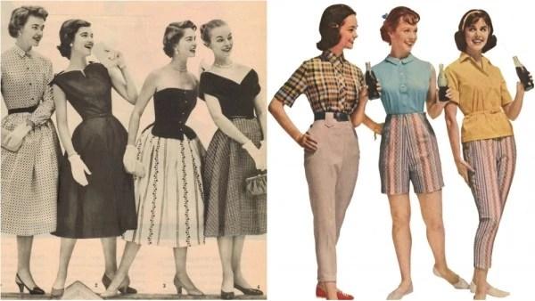 стиль одежды 50 годов сочетает изысканность и женственность.
