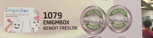2 nominations pour EnigmBox à L'IndiePrize