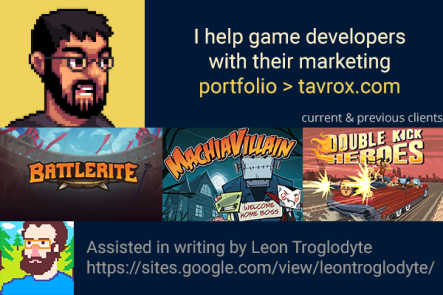 Tavrox - freelance marketing jeux indépendants