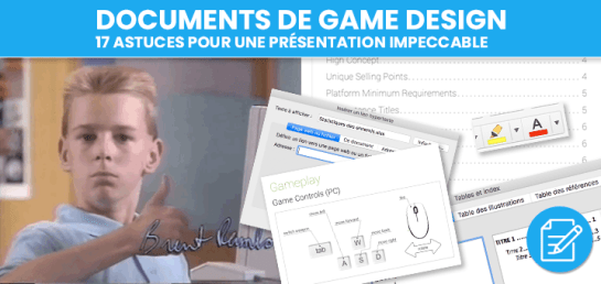 Documents Game Design astuces présentation