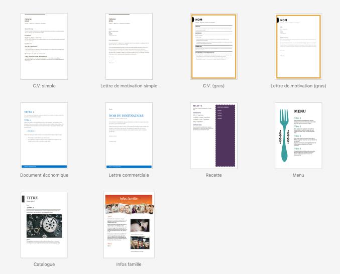 Modèle pour documents de game design sur Microsoft Word