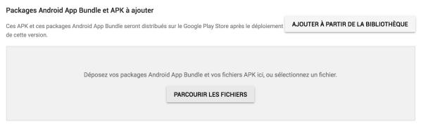 Package Android App Bundle et Apk à ajouter