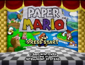 Paper Mario with the de-blur filter