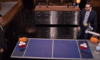 Jimmy Fallon Faces Off Against Joshua Topolsky's Beer Pong Robot