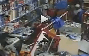 Father Leaves Kids in the Car, Kids Drive Car Through the Front of the Store!
