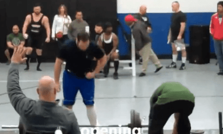 Weight Lifter Passes Out Cold Mid Lift