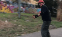 70 Year Old Gets Longboard for His Birthday