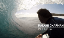 Kalani Chapman's Amazing Double Barrel Surf Ride