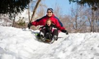 The Award For Best Father Of The Year So Far Goes To: The Dad Who Made The Epic Backyard Sledding Hill