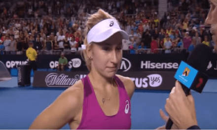 Aussie Tennis Player Says She Is Good From Behind