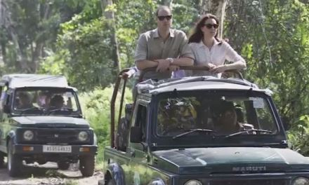 Prince William and Kate Middleton Go on Indian Safari