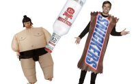 Woman Dressed As A Sumo Wrestler Cracks A Lady In The Head With A Smirnoff Ice For Talking To a Man Dressed Like A Snickers Bar