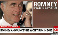 Romney Announces That He Will Not Run in 2016