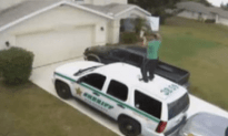 Guy Caught Dancing On Cop Car