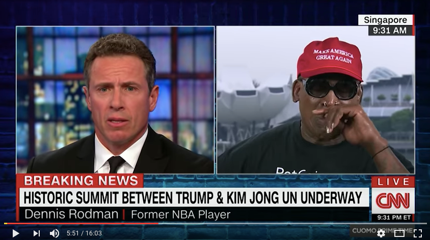 Dennis Rodman Emotional Break Down on CNN With Chris Cuomo
