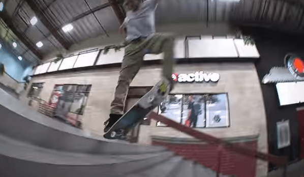 Chris Joslin's 21 Foot Skateboard Backside Flip
