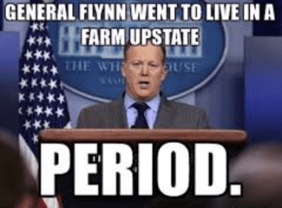 General Flynn resignation meme