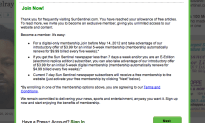 NOPE: Sun Sentinel Wants You To Pay $10 Dollars A Month To Go To Their Second Rate Website