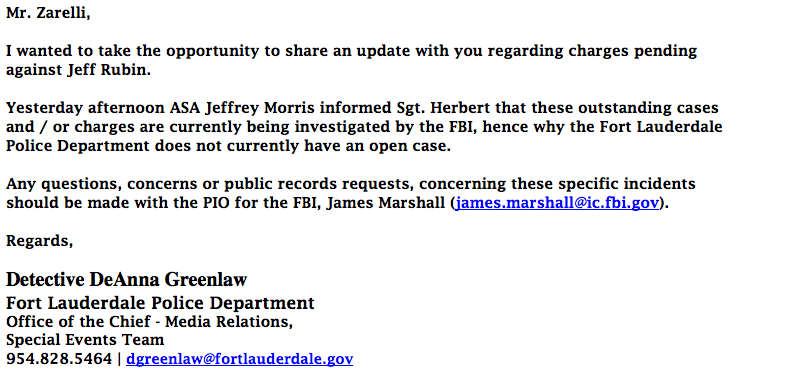 Jeff Rubin FBI Investigation