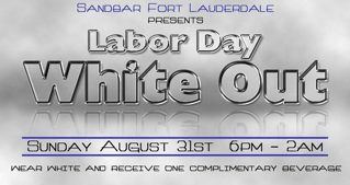 Get a Free Drink if You Wear White to Sandbar Today!!!