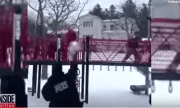 North Bergen Police Officers Have A Snow Ball Fight With Kids During Nor' Easter Stella