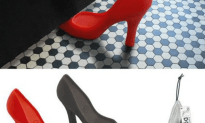 Can Someone Please Get The Fearless Fashionista These Sexy Red Pump Door Stoppers?