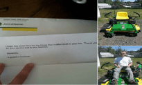 Disabled Vet Mysteriously Gets Lawn Mower Delivered To Home