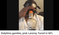 Laremy Tunsil Rips A Gas Mask Bong Hit Before Being Drafted By The Miami Dolphins