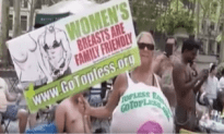 Protest In New York For Bare Chest Equality