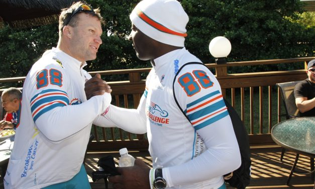 The 2nd Annual Miami Dolphins Cycling Challenge Doubles Ridership  To Fight Cancer in South Florida