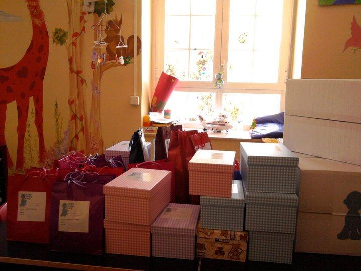 Los donantes tendrán que escribir sus datos para recibir un regalo de los niños
