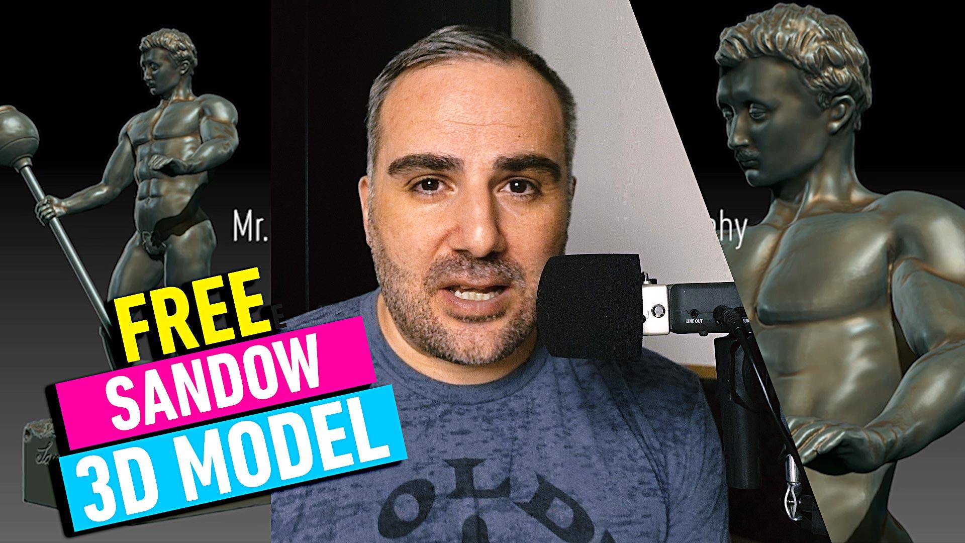 Mr  Olympia 2017 - Sandow Trophy 3D Model Free Download