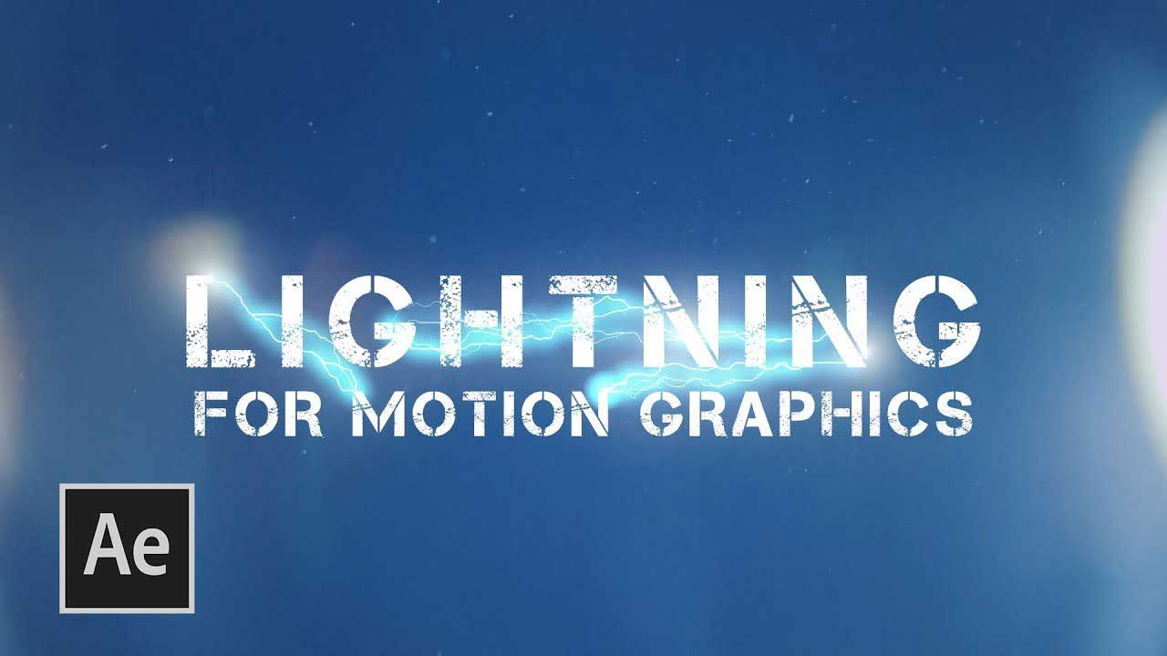 After Effects - Electricity Lightning Effect - VIDEO MARK