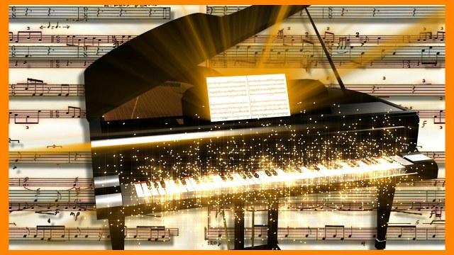 ФУТАЖ Music Piano Full HD
