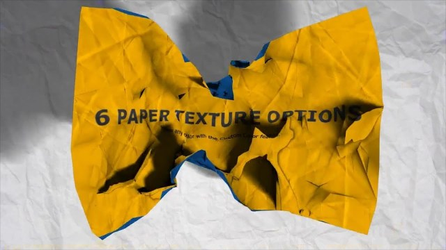 Проект After Effects — Crumpling Paper Logo Reveal