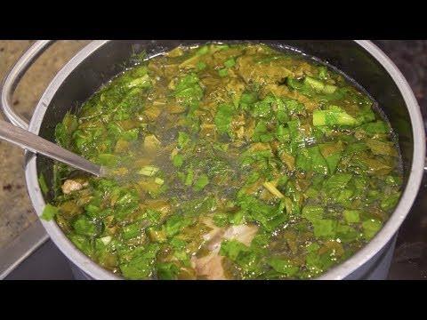 Как варить зеленый борщ с щавелем. Суп со щавелем видео ...