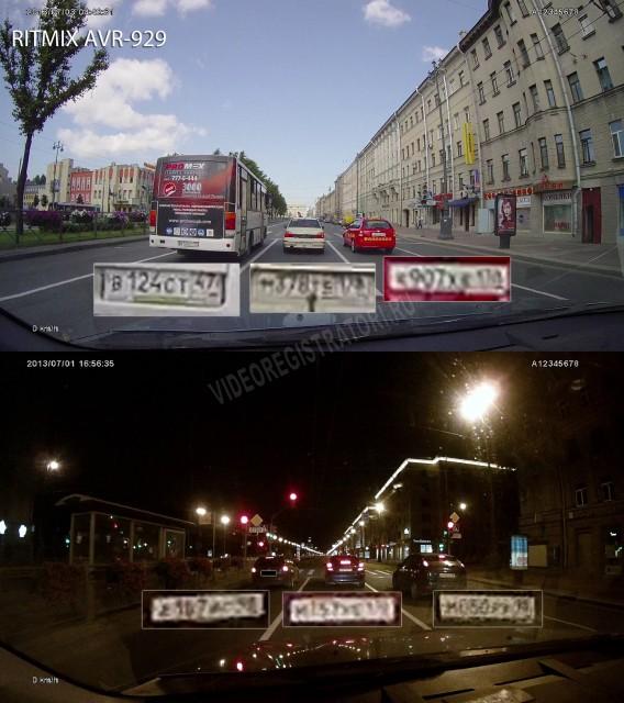 Видеорегистратор Ritmix AVR-929 Качество видео