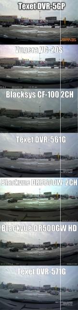 Видеорегистратор Texet DVR-561G - угол обзора