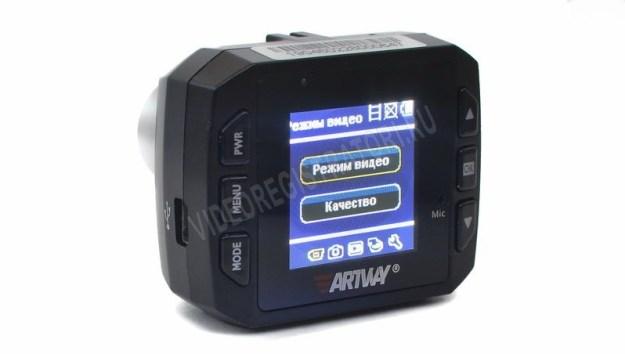 Обзор видеорегистратора Artway AV-507. Меню
