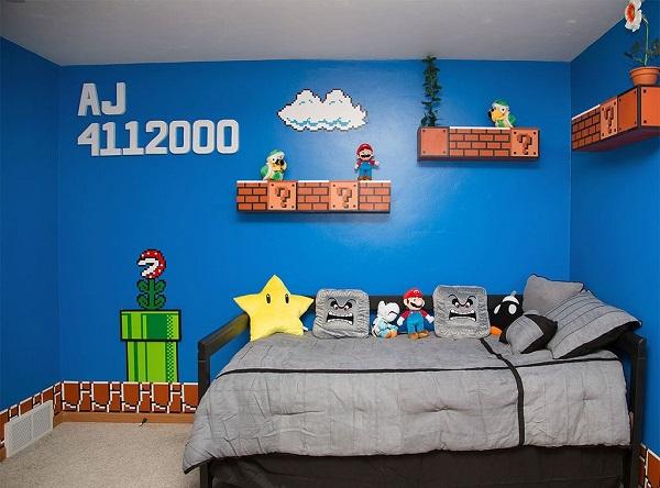 Un Papa Geek Ralise Une Chambre Super Mario Bros Avec Les