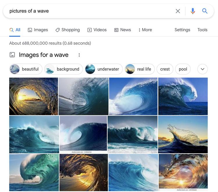Semantic search example - BrightEdge