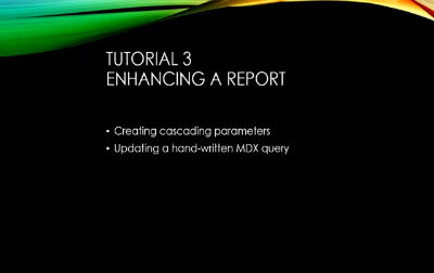 SSRS with MDX Tutorial 3