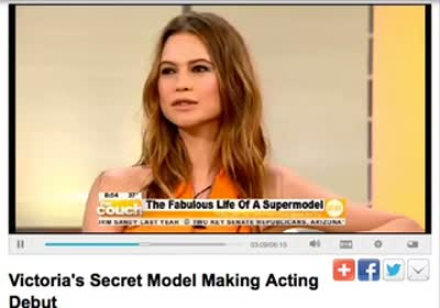 Angel Behati Prinsloo on The Couch of CBS 26 Feb 2013