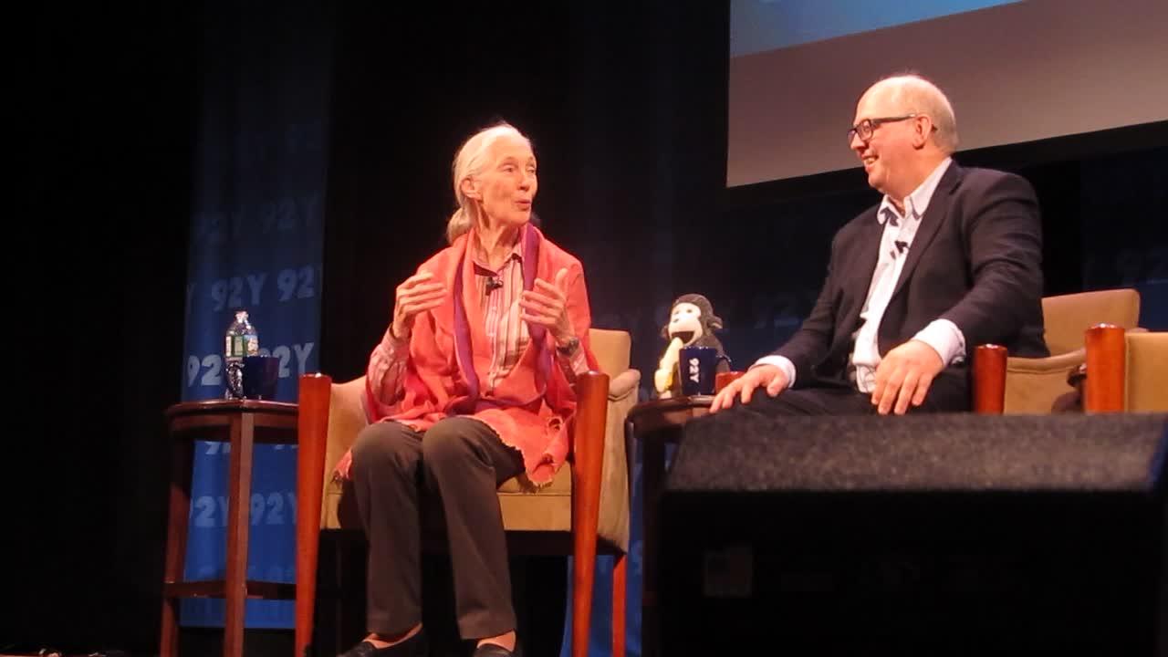 Jane Goodall teaches us chimp calls