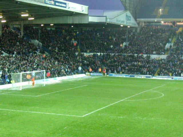 """Marching on Together"" at half time at Elland Road."