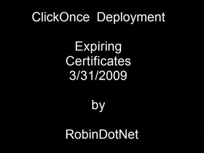 ClickOnce and Expiring Certificates