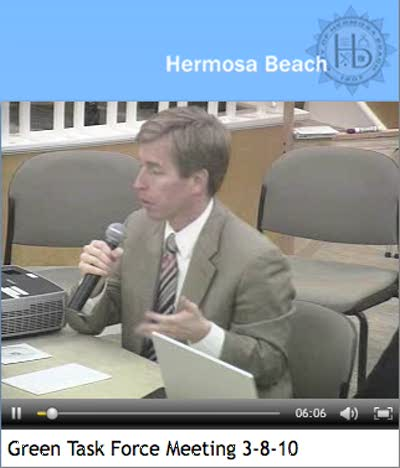 Mayor DiVirgilio Hermosa Beach Green Task Force Comments March 18