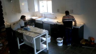 Leckman Kitchen – Tile Day 1 (Partial)