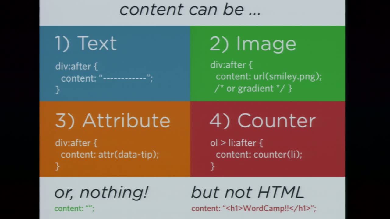 Chris Coyier: CSS Pseudo Elements for Fun and Profit!