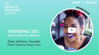 Mending 101: How To Sew On A Button By Hand | #Futureclosetsummit | Sustainable Fashion Forum